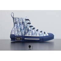 B23 High-Top Sneaker Blue Dior Oblique Canvas 3SH118YNT_H565