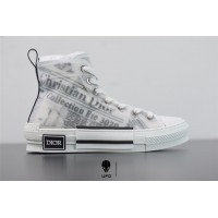 B23 High-Top Sneaker White Canvas with DIOR AND DANIEL ARSHAM Motif 3SH118YUO_H069