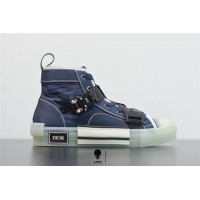 B23 High-Top Sneaker Blue Technical Canvas 3SH122YQG_H569