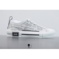 B23 Low-Top Sneaker White Canvas with DIOR AND DANIEL ARSHAM Motif 3SN249YUO_H069