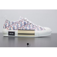 B23 Low-Top Sneaker Red and Blue Pixellated Dior Oblique Canvas 3SH118YTG_H563