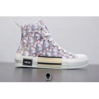 B23 High-Top Sneaker Red and Blue Pixellated Dior Oblique Canvas 3SH118YTG_H563