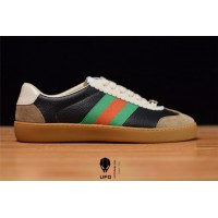 Gucci Leather and suede Web sneaker 5216810PV202361