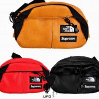 The north face x Supreme Beltbag/leather lumbar pack